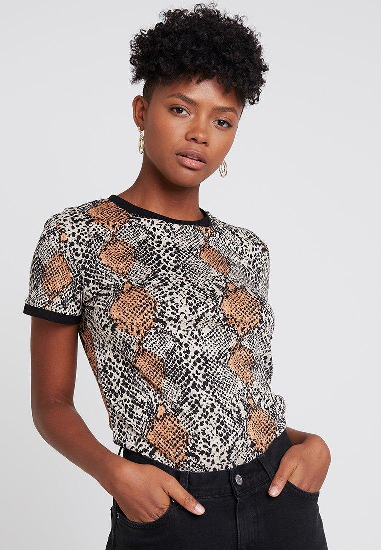 New Look - ANIMAL SNAKE PRINT - T-Shirt print - black