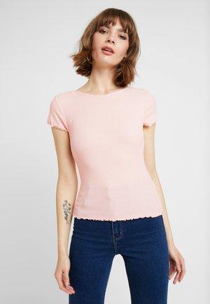 CROP TEE 2 PACK - T-shirts - black/coral