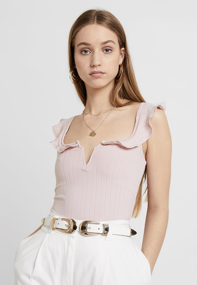 New Look - RUFFLE DETAIL - Top - nude