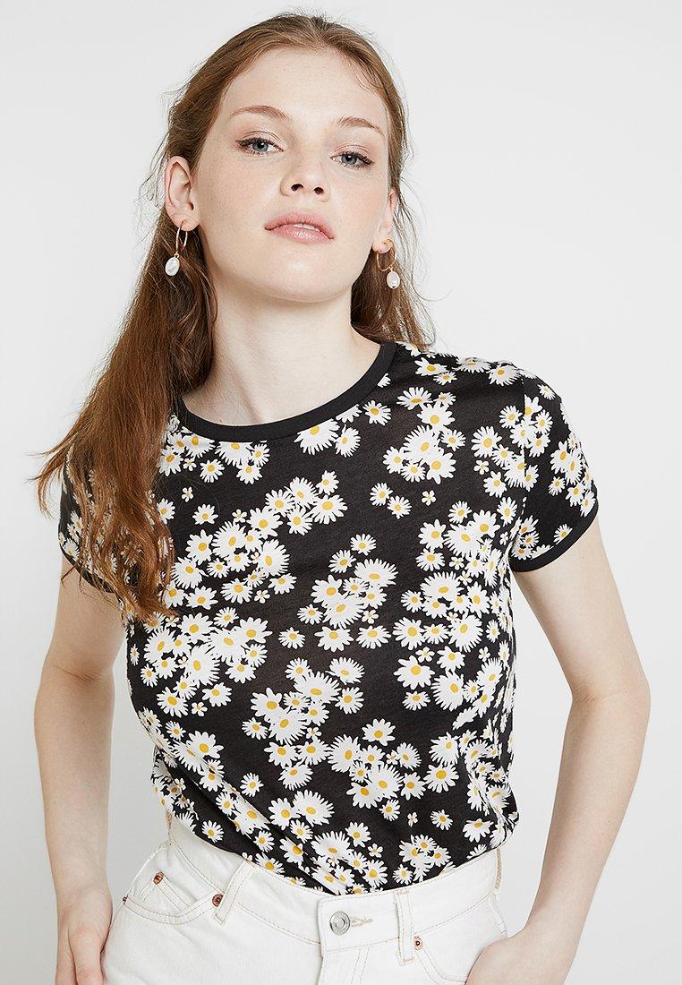 New Look - DAISY RINGER - Camiseta estampada - black