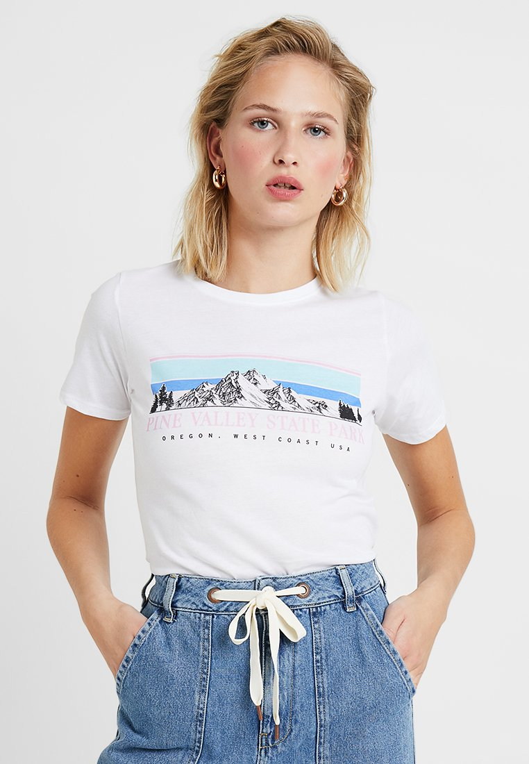 New Look - PINE VALLEY - T-shirt print - white