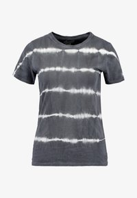 New Look - LINEAR TIE DYE TEE - T-shirts med print - black - 3