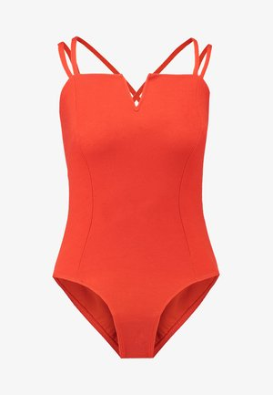 NOTCH NECK BODY - Top - red