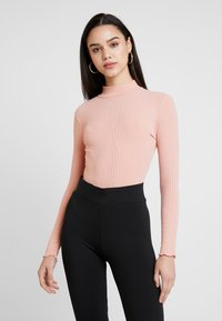 New Look - LETTUCE EDGE - Long sleeved top - pink - 0