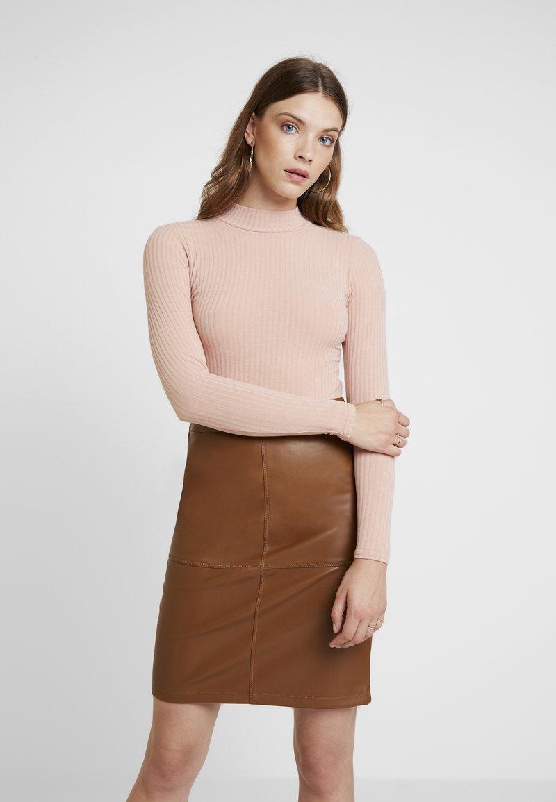 New Look - TURTLE NECK BODY - Langarmshirt - pink