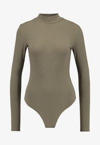 New Look - TURTLE NECK BODY - Long sleeved top - light khaki - 3