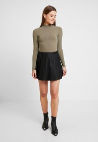 New Look - TURTLE NECK BODY - Long sleeved top - light khaki - 1