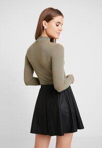 New Look - TURTLE NECK BODY - Long sleeved top - light khaki - 2
