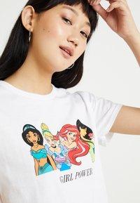 New Look - PRINCESS GIRL POWER TEE - T-Shirt print - white - 3