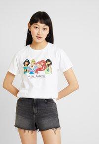New Look - PRINCESS GIRL POWER TEE - T-Shirt print - white - 0