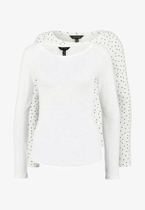 SPOT CREW - Long sleeved top - white pattern