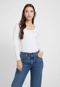 New Look - ACID WASH SCOOP NECK BODY 2 PACK - Long sleeved top - grey - 2