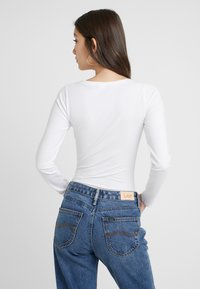 New Look - ACID WASH SCOOP NECK BODY 2 PACK - Long sleeved top - grey - 3