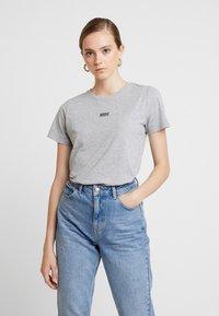New Look - BASIC TEE - Print T-shirt - grey marl - 0
