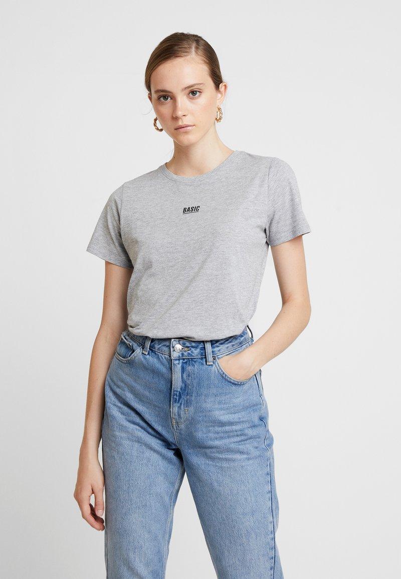 New Look - BASIC TEE - Print T-shirt - grey marl