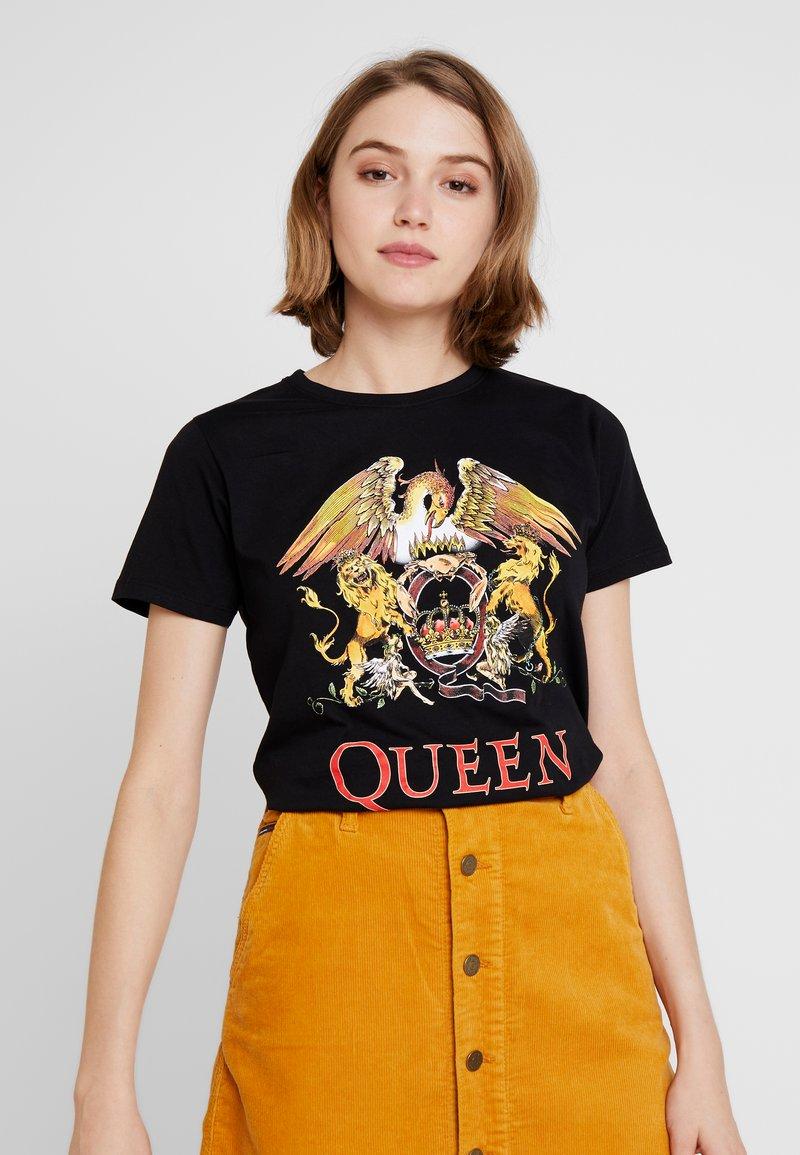 New Look - QUEEN ROCK - Print T-shirt - black