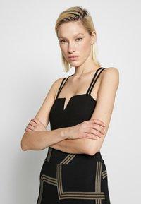 New Look - GO NOTCH NECK BODY - Top - black - 3