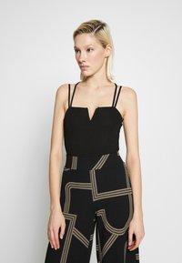 New Look - GO NOTCH NECK BODY - Top - black - 0