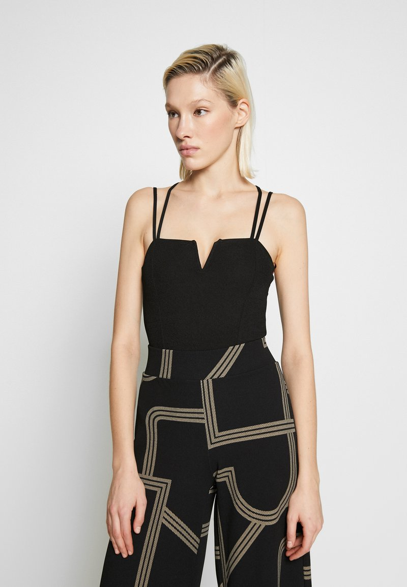 New Look - GO NOTCH NECK BODY - Top - black