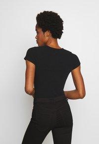 New Look - CREW NECK BODY 2 PACK - Top - black - 3