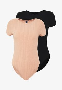 New Look - CREW NECK BODY 2 PACK - Top - black - 4