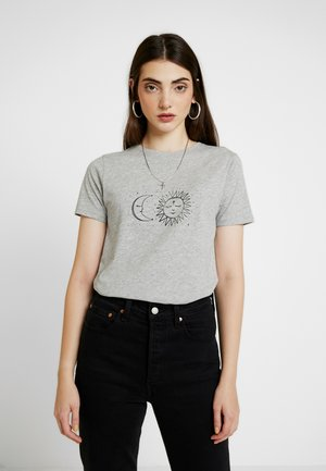 SKETHCY SUN AND MOON TEE - T-shirt med print - grey niu