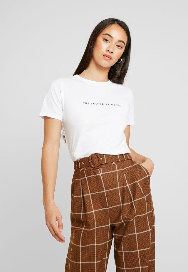 THE FUTURE IS HAPPY TEE - T-shirt print - white