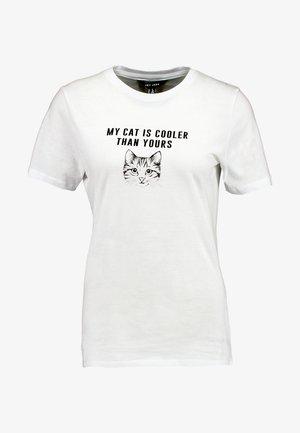 CAT TEE - T-shirt print - white