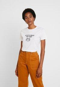 New Look - CAT TEE - T-shirt print - white - 0