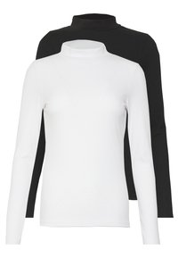 New Look - TURTLE NECK 2 PACK - Topper langermet - black/white - 0
