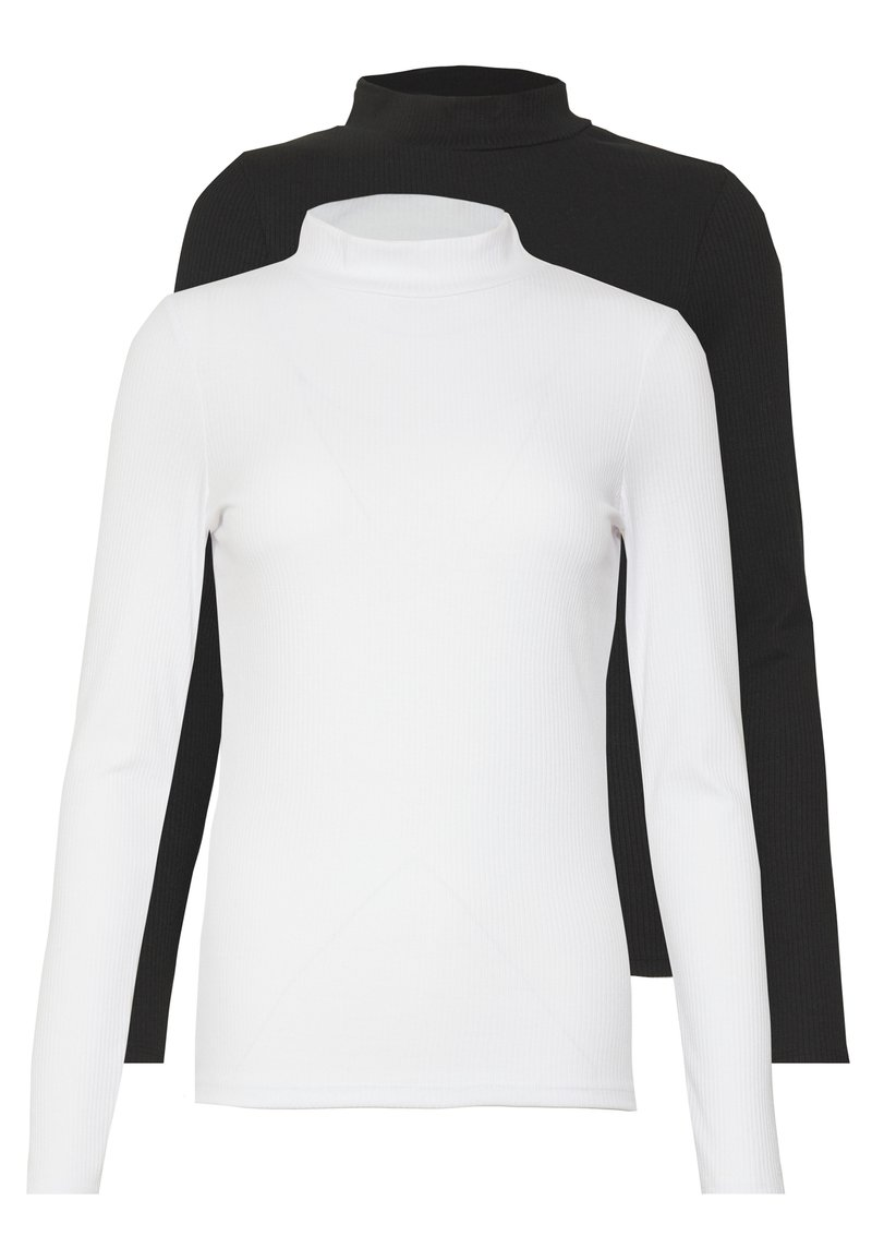 New Look - TURTLE NECK 2 PACK - Topper langermet - black/white