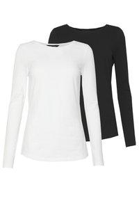 New Look - 2 PACK  - Bluzka z długim rękawem - white/black - 0