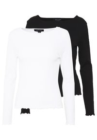 New Look - BABYLOCK LS TEE 2PACK - Top sdlouhým rukávem - white/black - 0