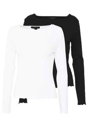 BABYLOCK LS TEE 2PACK - Longsleeve - white/black