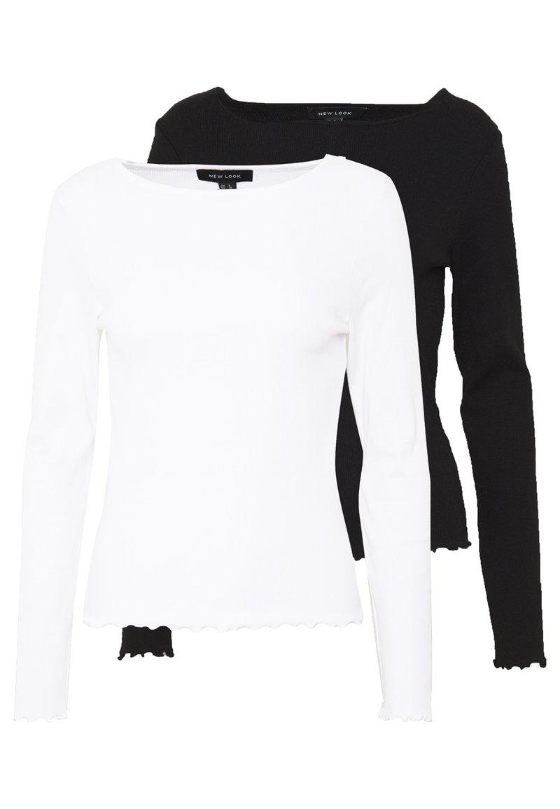 New Look - BABYLOCK LS TEE 2PACK - Top sdlouhým rukávem - white/black
