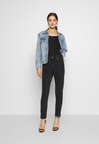 New Look - SCOOP NECK BODY - Long sleeved top - black - 1