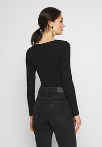 New Look - SCOOP NECK BODY - Long sleeved top - black - 2