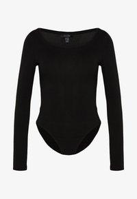 New Look - SCOOP NECK BODY - Long sleeved top - black - 3