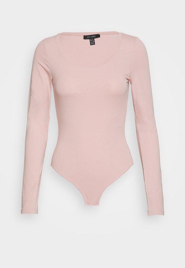 SCOOP NECK BODY - Long sleeved top - pale pink