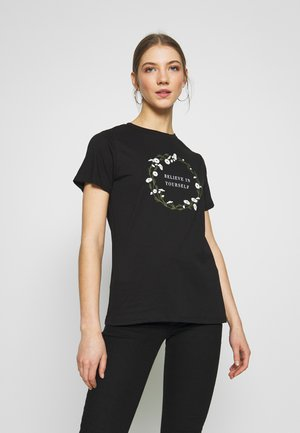 BELIEVE IN YOURSELF - Print T-shirt - black