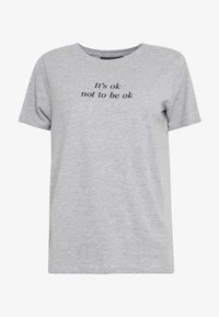 New Look - ITS OK NOT TO BE OK - Print T-shirt - grey - 4
