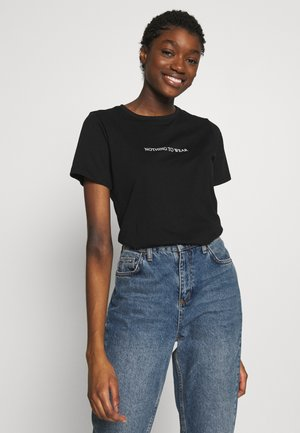 NOTHING TO WEAR TEE - T-shirts med print - black