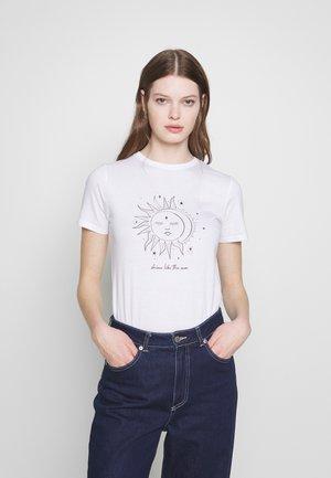 SHINE LIKE THE MOON SKETCHY - Print T-shirt - white