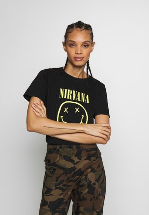 NIRVANA TEE - T-shirt imprimé - black