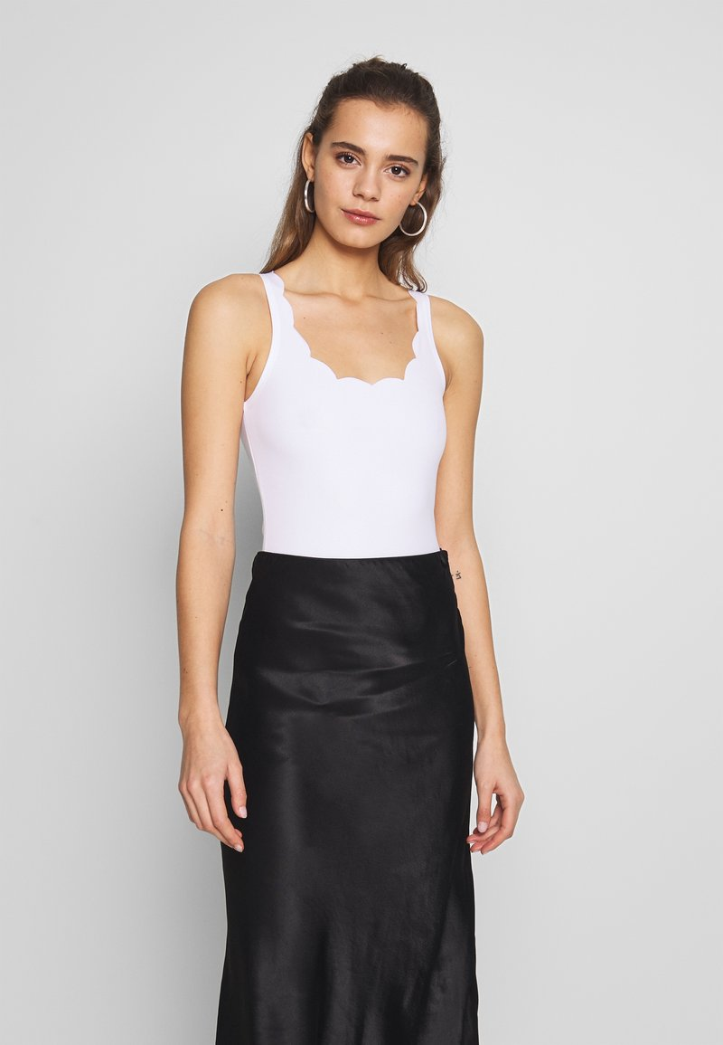 New Look - SCALLOP BODY 2 PACK - Top - black