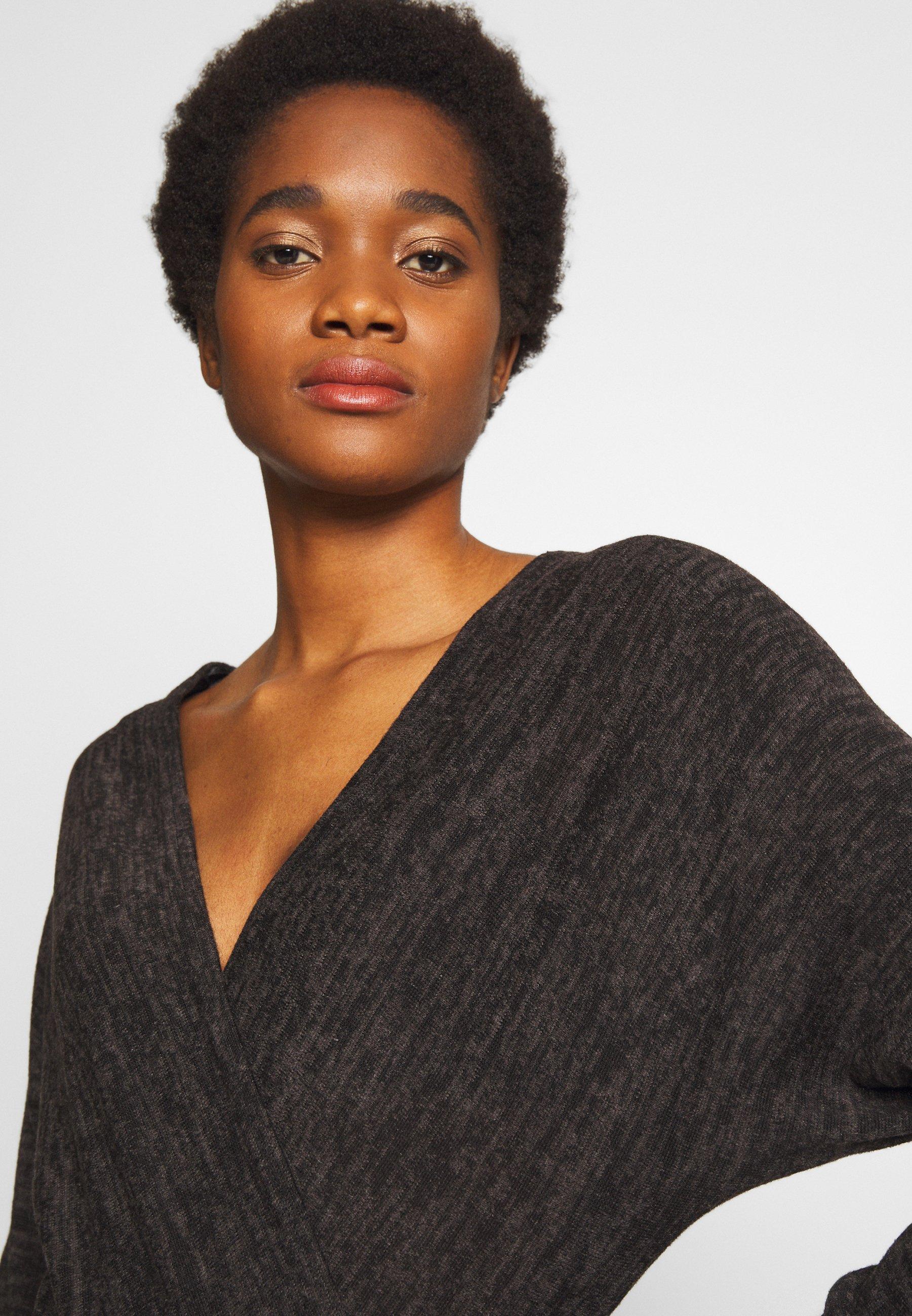 New Look MARL WRAP - Sweter - black
