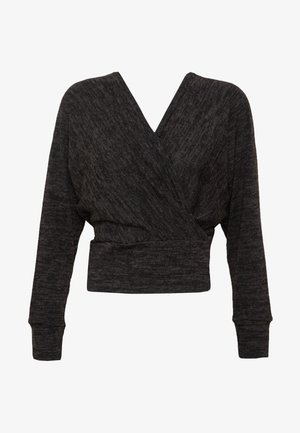 MARL WRAP - Sweter - black