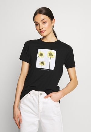 OOPSY DAISY PHOTOGRAPLISTIC - T-shirts med print - black
