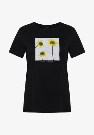 OOPSY DAISY PHOTOGRAPLISTIC - T-Shirt print - black
