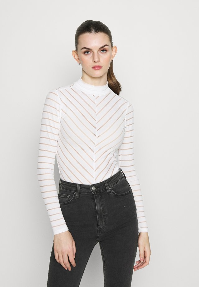 STRIPE - Long sleeved top - off white